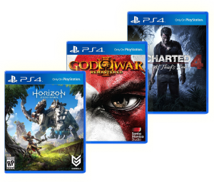 Horizon Zero Dawn + God Of War III + Uncharted 4 (PS4)