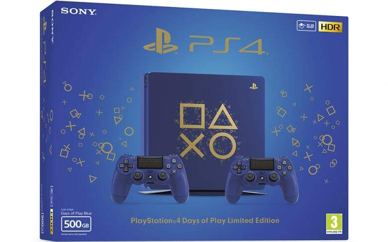 sony playstation 4 slim days of play 500gb фото