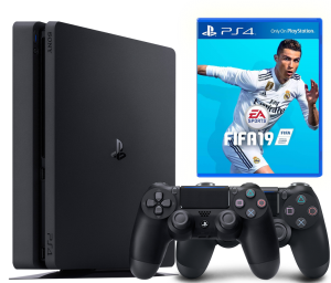 Sony Playstation 4 Slim 1Tb + FIFA 19 + Dualshock 4