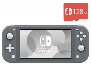 Nintendo Switch Lite (Gray) + Micro SD 128Gb + 20 Игр В Комплекте