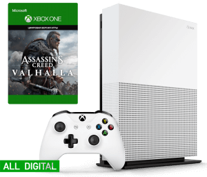 Microsoft Xbox One S 1Tb All-Digital Edition + Assassin's Creed Valhalla