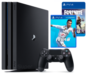 Sony Playstation 4 PRO 1Tb + FIFA 19 + Fortnite