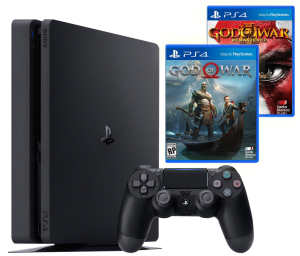 Sony Playstation 4 Slim 500Gb + God Of War + God Of War 3 Remastered