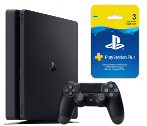 Sony Playstation 4 Slim 500Gb + Playstation Plus 3-месячная подписка