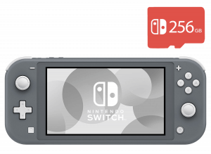 Nintendo Switch Lite (Gray) + Micro SD 256Gb + 40 Игр В Комплекте