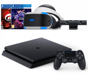 Sony Playstation 4 Slim 500Gb + Playstation VR + Playstation Camera + VR Worlds + Gran Turismo Sport
