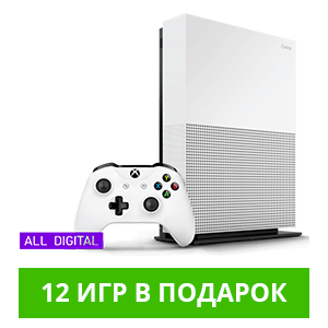 Microsoft Xbox One S 1Tb All-Digital Edition + 12 игр