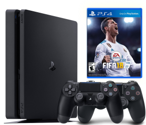Sony Playstation 4 Slim 1Tb + FIFA 18 + Dualshock 4