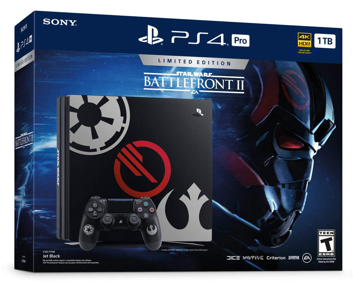 sony playstation 4 pro 1tb limited edition star wars: battlefront ii фото