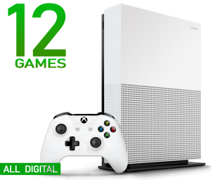 Microsoft Xbox One S 1Tb All-Digital Edition + Комплект из 12 игр