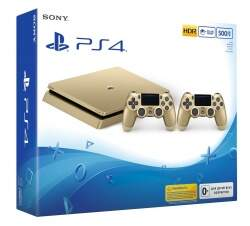 Sony PlayStation 4 Slim 500GB (СUH-2008)(firmware 4,55) + Dualshock 4 (Gold)