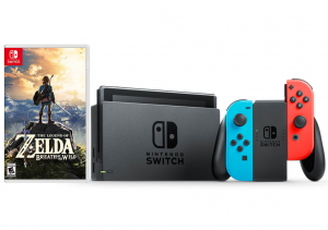 Nintendo Switch (Red/Blue) + The Legend of Zelda: Breath of the Wild