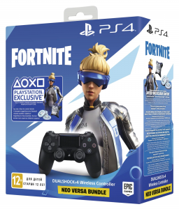 Sony DualShock 4 V2 Black + Fortnite Neo Versa