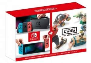 Nintendo Switch (Red/Blue) + Vehicle Kit