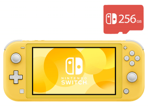 Nintendo Switch Lite (Yellow) + Micro SD 256Gb + 40 Игр В Комплекте