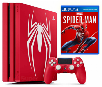 sony playstation 4 pro 1tb marvel's spider-man limited edition фото