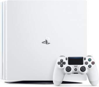 sony playstation 4 pro 1tb glacier white + god of war фото