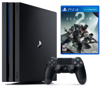 sony playstation 4 pro 1tb + destiny2 фото