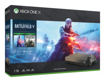 microsoft xbox one x gold rush special edition battlefield™ v bundle фото