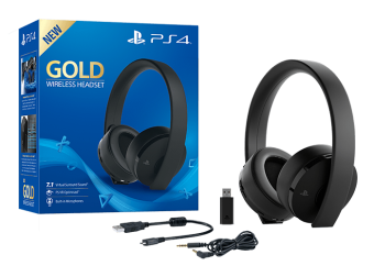 sony playstation gold wireless headset (black) фото