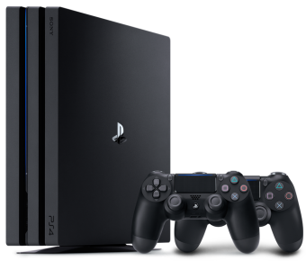 sony playstation 4 pro 1tb + dualshock 4 (black) фото