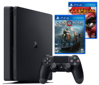 sony playstation 4 slim 500gb + god of war + god of war 3 remastered фото