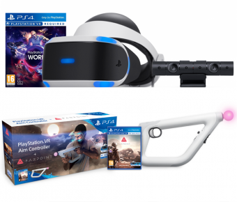 playstation vr + playstation camera + vr worlds + aim controller + игра farpoint фото