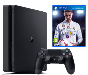 sony playstation 4 slim 500gb + fifa 18 фото