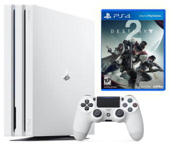 sony playstation 4 pro 1tb glacier white + destiny 2 фото