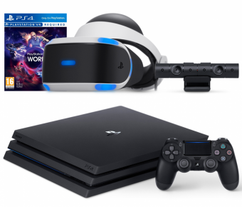 sony playstation 4 pro 1tb + playstation vr + playstation camera + vr worlds фото