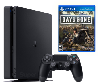 sony playstation 4 slim 500gb + days gone фото