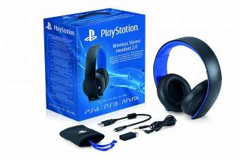 sony playstation wireless stereo headset 2.0 black фото