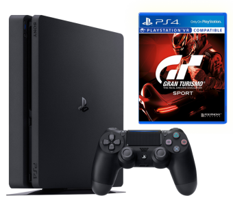sony playstation 4 slim 1tb + gran turismo sport фото