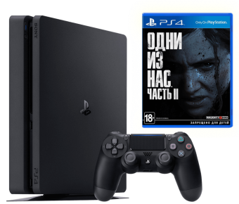 sony playstation 4 slim 1tb + the last of us part ii фото