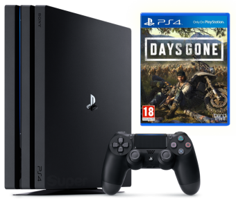 sony playstation 4 pro 1tb + days gone фото