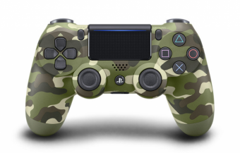 sony dualshock 4 (ps4) green camouflage (v.2) фото
